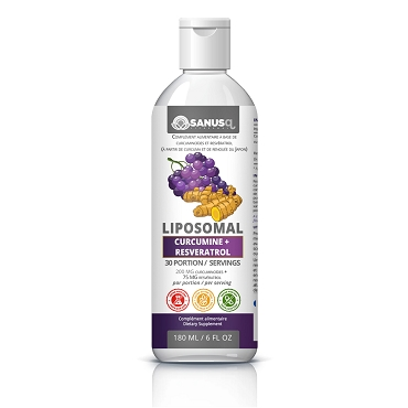 Liposomal Curcumin and Resveratrol - 180 ml | SANUS-q